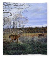 Take Out - Deer Fleece Blanket