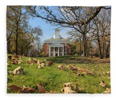 Middle College On An Autumn Day Fleece Blanket
