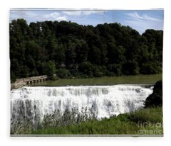 Middle Falls In Rochester New York Fleece Blanket