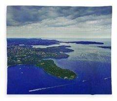Middle Head And Sydney Harbour Fleece Blanket