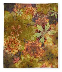 Midnight Blossom Bouquet Fleece Blanket