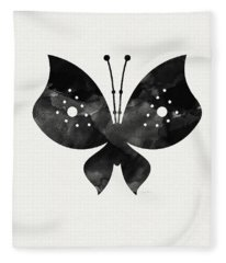 Midnight Butterfly 2- Art By Linda Woods Fleece Blanket