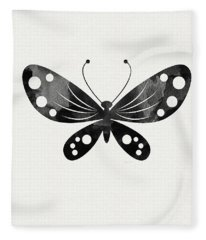 Midnight Butterfly 3- Art By Linda Woods Fleece Blanket