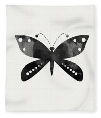 Midnight Butterfly 4- Art By Linda Woods Fleece Blanket