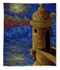 Midnight Mirage In San Juan Fleece Blanket