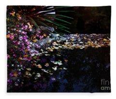 Midnight Oasis Fleece Blanket