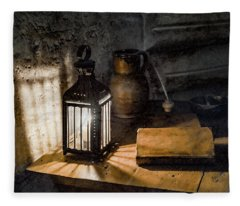 Paris, France - Midnight Oil Fleece Blanket