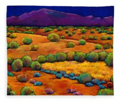Midnight Sagebrush Fleece Blanket