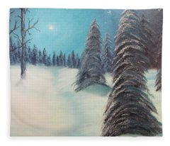 Midnight Silence Fleece Blanket