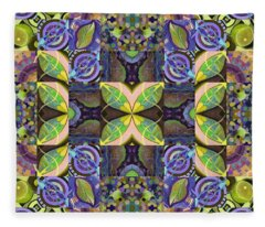 Midsummer Night Magic - A T J O D Mandala Series Puzzle 7 Arrangement 2 Variation Fleece Blanket