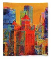 Midtown Manhattan From The Waldorf Fleece Blanket