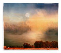 Midwest Harvest Moon Fleece Blanket