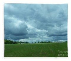 Midwestern Sky Fleece Blanket