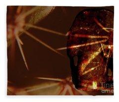 Migraine - The Pierced Skull Fleece Blanket