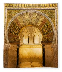 Mihrab In The Great Mosque Of Cordoba Fleece Blanket