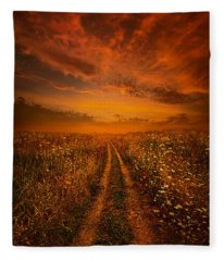 Miles And Miles Away Fleece Blanket