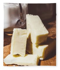 Milk And Cheese Fleece Blanket