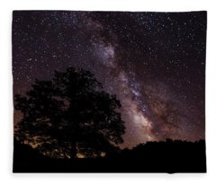 Milky Way And The Tree Fleece Blanket