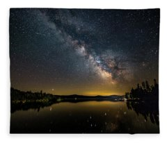 Milky Way At Hunter Cover Fleece Blanket