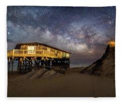 Milky Way Beach House Fleece Blanket