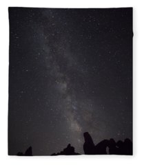 Milky Way Galaxy At Arches National Park Fleece Blanket