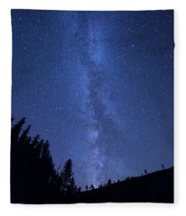 Milky Way Galaxy Fleece Blanket