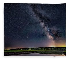 Milky Way On The Eastern Trail Fleece Blanket