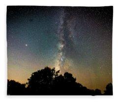 Milky Way Over Glen Rose Fleece Blanket