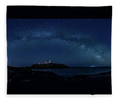 Milky Way Over Nubble Fleece Blanket
