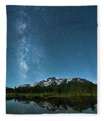 Milkyway Over Tallac By Brad Scott Fleece Blanket