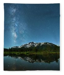Milkyway Over Tallac By Brad Scott Fleece Blanket