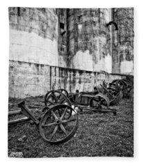 Mill Wheels Fleece Blanket