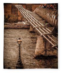 London, England - Millennium Bridge Fleece Blanket