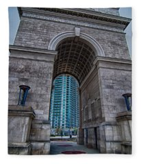 Millennium Gate Triumphal Arch At Atlantic Station In Midtown At Fleece Blanket