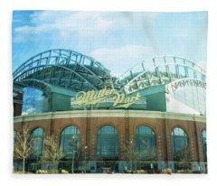 Miller Park Stadium Fleece Blanket