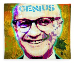 Milton Friedman Fleece Blanket