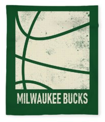 Milwaukee Bucks City Poster Art 2 Fleece Blanket