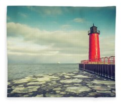 Milwaukee Pierhead Light Fleece Blanket