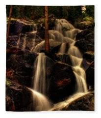 Quaking Aspen Falls Along Tioga Pass  Fleece Blanket
