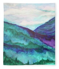Mini Mountains Majesty Fleece Blanket