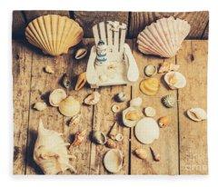 Miniature Sea Escape Fleece Blanket