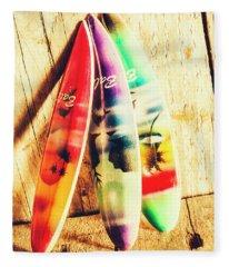 Miniature Surfboard Decorations Fleece Blanket