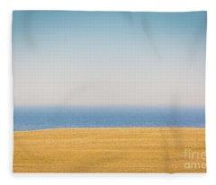 Minimal Lake Ontario Fleece Blanket