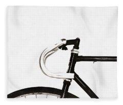 Minimalist Bicycle Painting Fleece Blanket