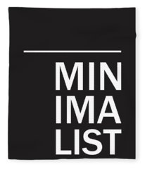 Minimalist Poster Fleece Blanket