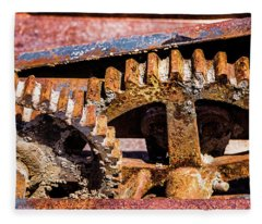 Mining Gears Fleece Blanket