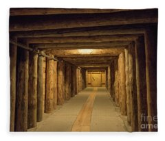 Mining Tunnel Fleece Blanket