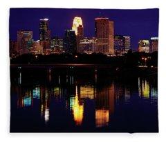 Minneapolis Twilight Fleece Blanket
