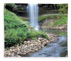 Minnehaha Falls Downstream Fleece Blanket