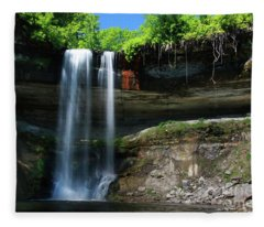 Minnehaha Falls Summer Minneapolis Minnesota Fleece Blanket